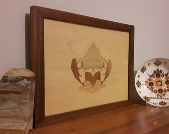 Picture frame, Wall Art, maple, Unique, Artisan, woodworking, Decoration, wood, inlay