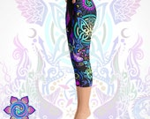 Psychedelic Clothing Festival Clothing Burning Man Sacred Geometry Clothing Yoga Leggings Yoga Pants Gift Womens Clothing Tights Unique EDM