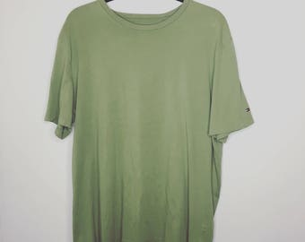 Green Tommy Hilfiger Oversized Tee Shirt