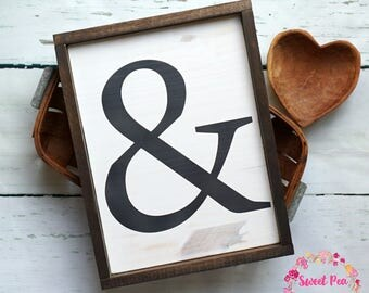 Rustic Ampersand Sign | Farmhouse Decor | Rustic Wall Decor | Wedding | Love