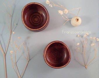 Cups, stoneware/baking cups espresso coffee cup. Pots by Franzicermics