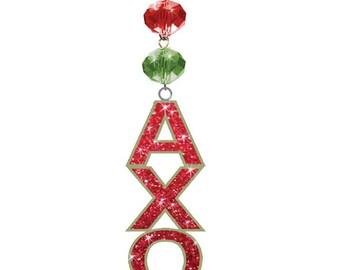 AXO Logo Bling - Alpha Chi Omega - Magnetic Ornament Axo Decor/Axo Ornament/Alpha Chi Omega Dorm Room Decor
