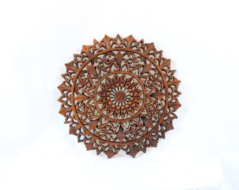 Balinese Wood Carving - Round Waterlily