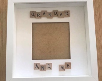 Grandad  and me scrabble frame, first Father's Day gift, keepsake gift, gift for daddy, gift for Dad