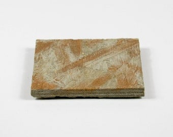 Concrete Coaster | Drinks Mat | Light Grey | Rose Gold | Square | Modern Urban Industrial Style