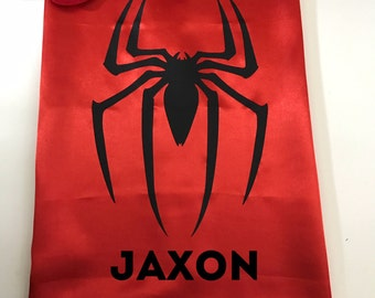 Personalized Superhero Cape and Mask Set, Spiderman Cape, Spiderman Party Favors, Spiderman Birthday Party