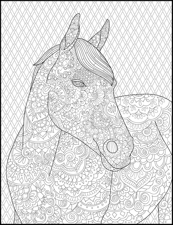 coloring pages for adults horseshoe - photo#13