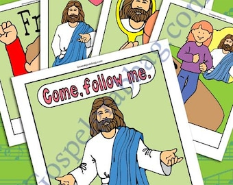 """2017 SEPTEMBER Music - """"Come Follow Me"""" Song Visuals, Primary practice, picture-for-every-verse, Primary Singing Time, LDS music leader"""