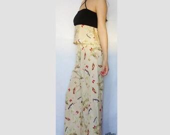 Crisscross design crop top and palazzo pants - Women's suit