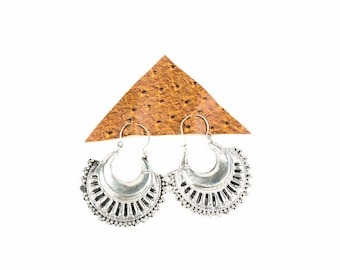 Metalwork Fan Earrings
