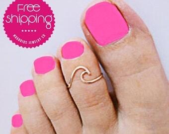 toe ring.toe rings.wave ring.wave rings.college student gift.wave toe ring.silver toe ring.silver wave rings.toe wave ring (Wave Toe Ring)