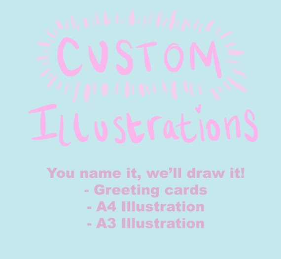 Cool Custom Portrait, Personalised Illustration, Quirky Portraits, Kitsch Illustration Style, Perfect Gift