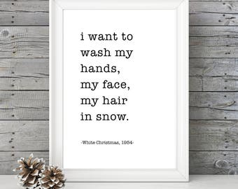 White Christmas- Snow - 11x14 Christmas Home Decor Poster - Christmas Decoration - Movie Quote