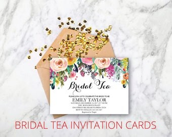 Bridal Tea Party Invitation, Suplime Bridal Tea Invite Template,  Suplime Bridal Tea Bridal Tea, Bridal Tea Party, INSTANT DOWNLOAD, BR-S02