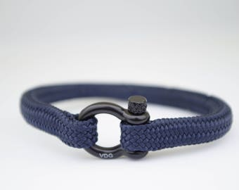 NAVY BLUE & black | Sailing bracelet - Custom and Handmade