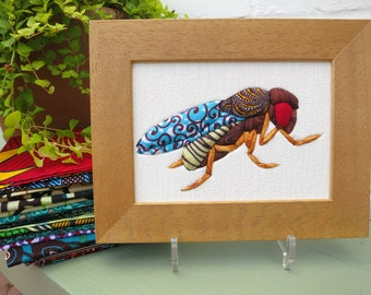 Drosophila textile picture - Fly Art - Scientific Gift - Insect illustration