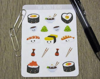 Kawaii Sushi Planner Stickers