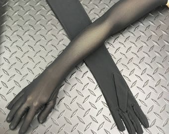 Opera-length Active Stretch Mesh Gloves