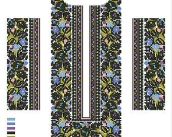 A cross stitch pattern for a men's vyshyvanka