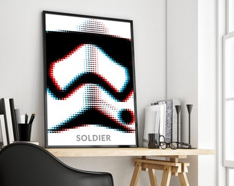 Stormtrooper | Star Wars | Soldier | Poster Print Design | A0 A1 A2 A3 A4