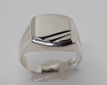 Classic, Men Signet Ring, Men Ring, Gift for Him, Men Sterling Silver Ring, Ring for Him, Signet Rings,  Women Signet Ring