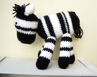 Free Shipping, Crochet Zebra Amigurumi, Striped Crochet Zebra, Stuffed Zebra Toy, Crochet Toys, Crochet Stuffed Animals, Crochet Toy Zebra