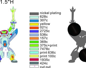 PRE-ORDER: Rick and Morty Voltron Robot Pin