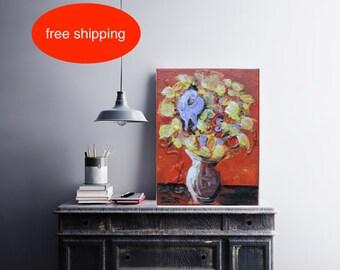 """Acrylbild, Acrylmalerei, """"Blumen"""", acrylic, Malerei, Abstrakt, zeitgenössische Kunst, modernes Gemälde, Handgefertigt, kostenlose Lieferung"""