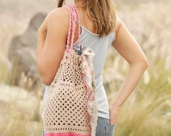 100% cotton crochet lace pattern bag