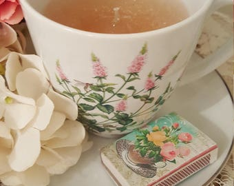 Romantic Teacup Candle - Rose Garden