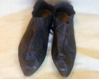 Medieval Leather Boots (antique reconstruction); Hedeby Boots | Medieval Leather Shoes | Viking Shoes | Celtic Boots | Renaissance shoes