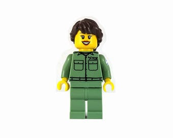 Female IDF Mini-Figure- Israeli Defense Force - Jewish Custom Lego® Set from JBrick