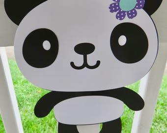 Panda Decoration, Girl Panda Sign, Girl Panda Decoration, Baby Shower Panda Sign, Birthday Panda Sign