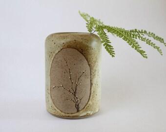 vintage handmade pottery vase/stoneware vase