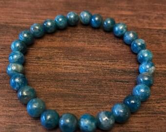 Blue Apatite Stretch Bracelet - 6mm beads