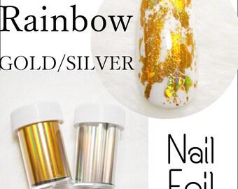 Rainbow Gold Silver Nail Foil