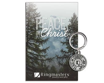 Peace In Christ Key Tag D&C 19:23 LDS Mutual Theme for 2018