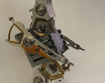 Bird-O-Saur Robot - Recycled Computer Components