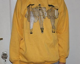 Vintage Yellow Sweatshirt
