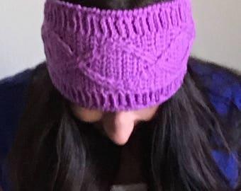 Open Cable Headband / Ear warmer crochet pattern