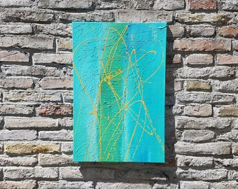 Turquoise - acryl art, modern & abstract, unique