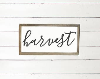 harvest wood sign | autumn home decor | fall wood sign | harvest home decor | fall home sign | rustic home decor | farmhouse home decor