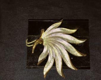 Vintage HOBE Goldtone/Silver Brooch
