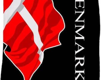 Denmark Custom Flag Fleece Blanket