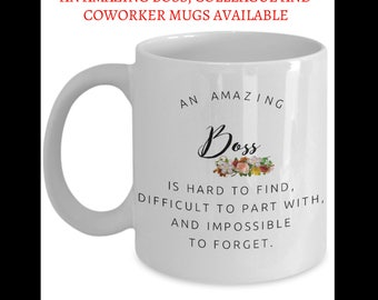 Boss Coworkers Co-worker best mugs coffee tea cup gifts funny friend colleague Retirement  Goodbye Leaving Farewell For Going Away Thank You