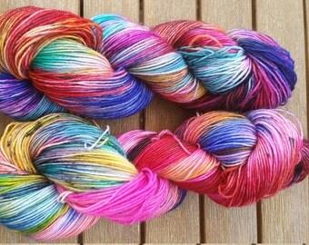 "Hand-dyed sock yarn 4 x ""Duranand"""