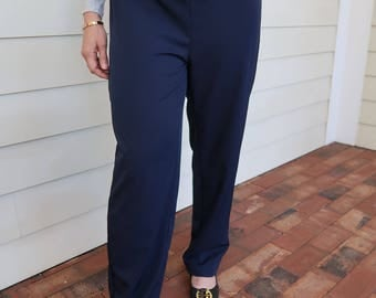 Navy Draw String Pants
