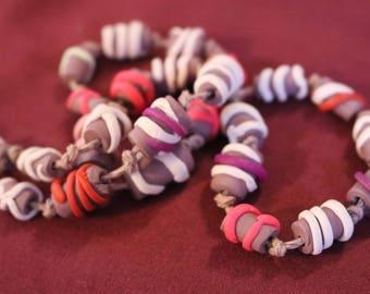 Original Polymer Clay Ice-cream  Necklace. handmade beads.