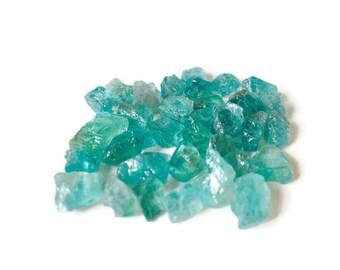 75 ct Raw Aqua BLUE Tourmaline Crystal Rough Lot Rare
