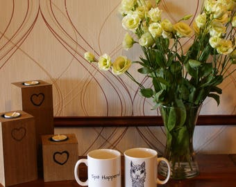 Alpaca Mug - Spit Happens - Cambridge - White - Unique Design - Animal mug - Tea/Coffee Mug - Gift